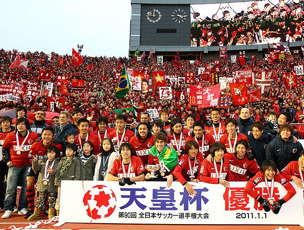 Kashima Antlers comemora título