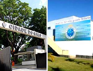 montagem CT Atlético-MG Cruzeiro