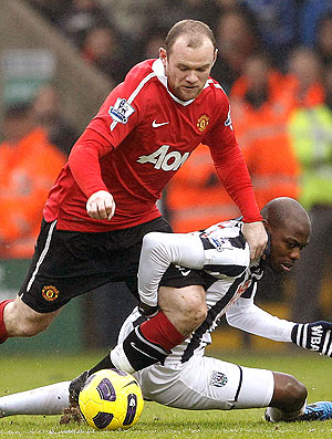Rooney na partida do Manchester United contra o West Bromwich