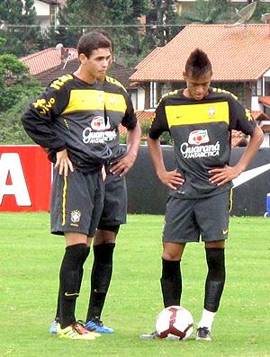 oscar neymar brasil sub 20 treino