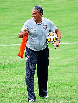Tite no treino do Corinthians