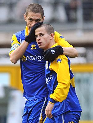 Giovinco comemora gol do Parma contra o Juventus