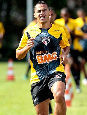 Mazola no treino do São Paulo