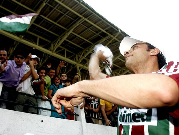 festa da apresentação de Fred no Fluminense