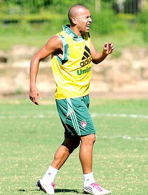 Emerson sente lesão no treino do Fluminense (Foto: Agência Photocâmera)