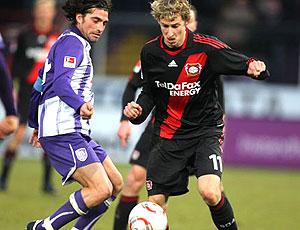 Kiessling em ação pelo Bayer Leverkusen