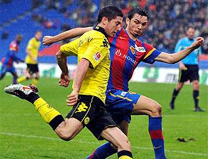 Lewandowski em ação pelo Borussia Dortmund