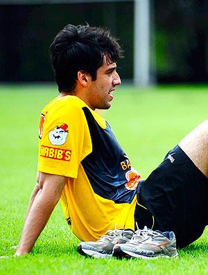 Ilsinho no treino do São Paulo