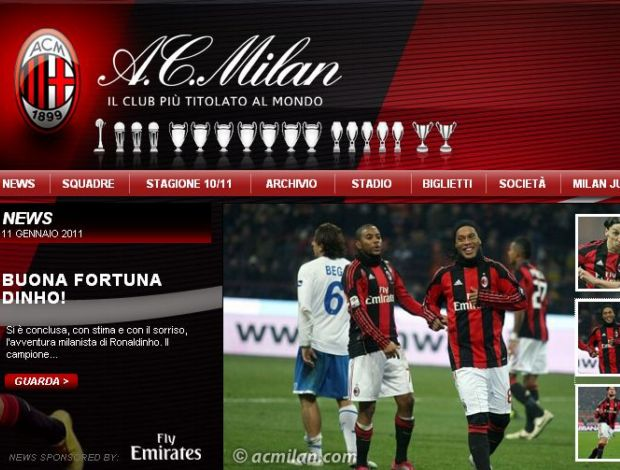 site do milan ronaldinho no flamengo