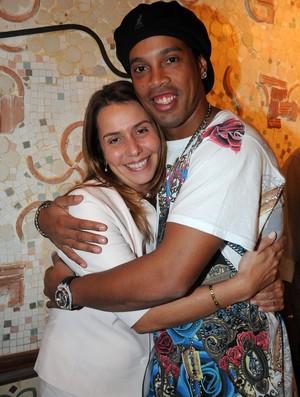 Ronaldinho e Patricia Amorim juntos pelo Fla