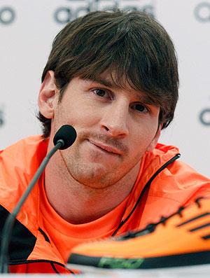Messi durante lançamento de chuteira