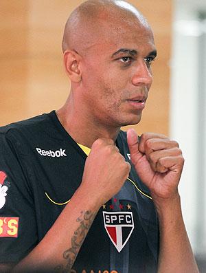 Alex Silva no treino do São Paulo (Foto: Lucas Uebel / VIPCOMM)