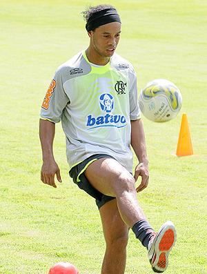 Ronaldinho treino Londrina Flamengo