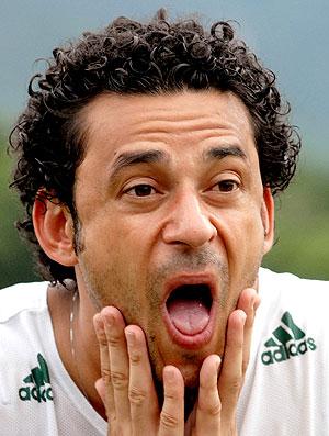 Fred no treino do Fluminense (Foto: Alexandre Durão / GLOBOESPORTE.COM)