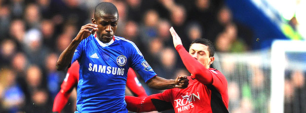 Ramires na partida do Chelsea contra o Blackburn