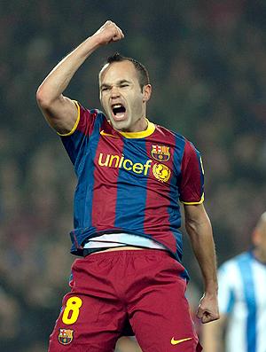 Iniesta gol Barcelona