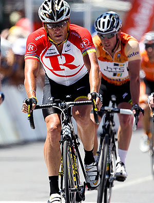 Lance Armstrong no Tour Down Under (Foto: AFP)
