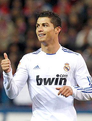 Cristiano Ronaldo na partida do Real Madrid (Foto: EFE)