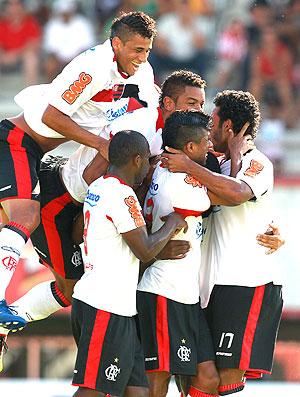 David comemora gol do Flamengo contra o América