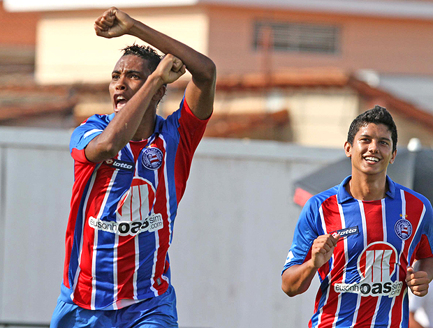 Madson do Bahia comemora gol na Copinha