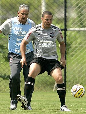 Tite Ronaldo treino Corinthians