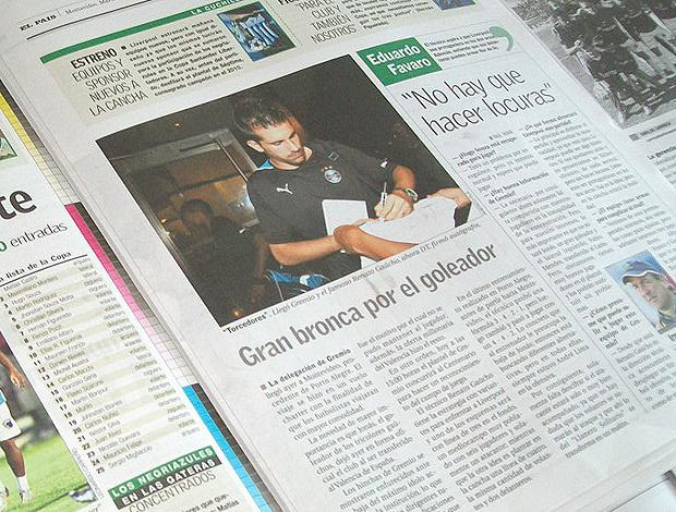 jornais uruguaios grêmio