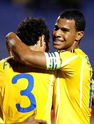 Pedro Franco comemora gol da Colômbia no sub-20