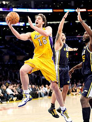 basquete nba pau gasol lakers utah jazz