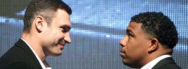 Odlanier Solis e Vitali Klitschko apresentação da luta de boxe