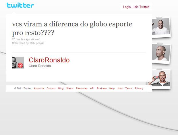 reprodução twitter ronaldo corinthians