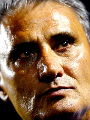 Tite na partida do Corinthians contra o Tolima