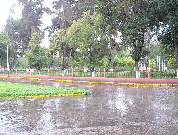parque ruas alagadas Arequipa (Foto: Márcio Iannacca / Globoesporte.com)