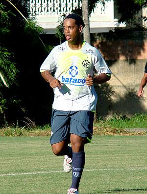 Ronaldinho Gaúcho no treino do Flamengo