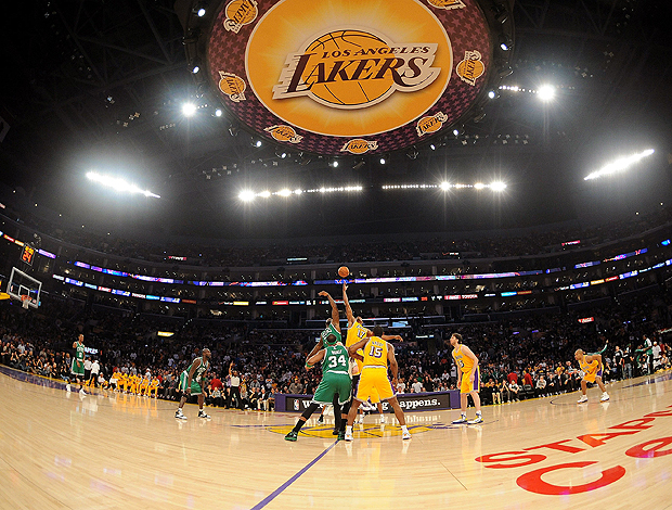 basquete nba Shaquille O'Neal Andrew Bynum lakers x boston