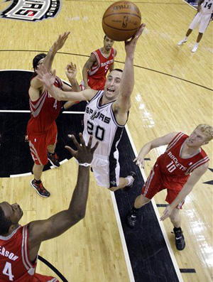Manu Ginobili San Antonio Spurs Houston Rockets