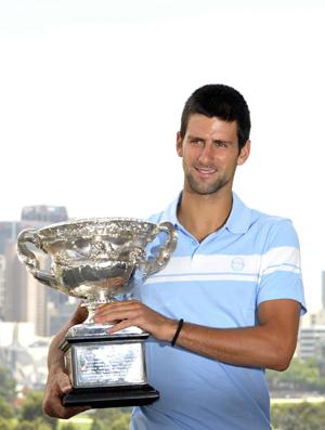 Djokovic troféu Australian Open Melbourne