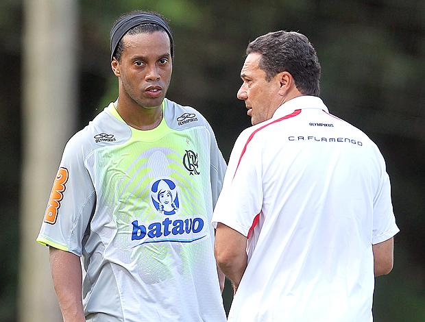 Ronaldinho Luxemburgo treino Flamengo