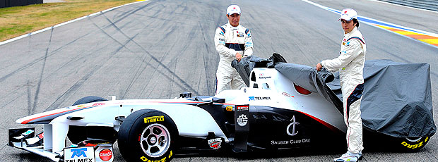 lançamento do novo carro da Sauber C30