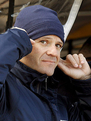 Barrichello durante testes em Valência