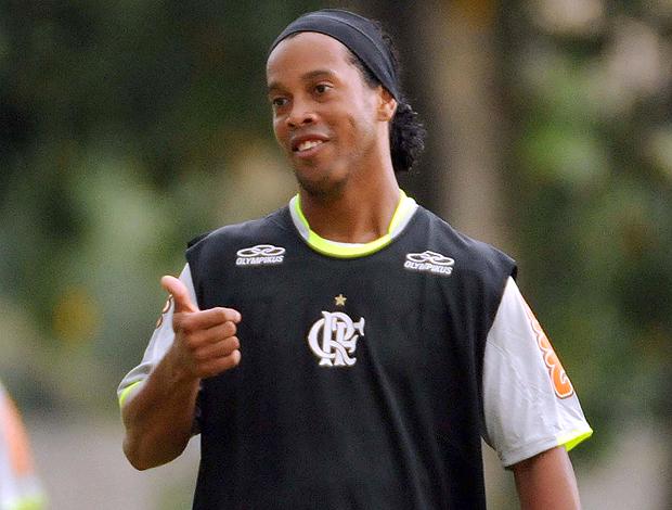 Ronaldinho Gaucho treino Flamengo