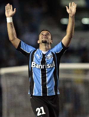 andre lima gol grêmio x liverpool uruguai (Foto: EFE)