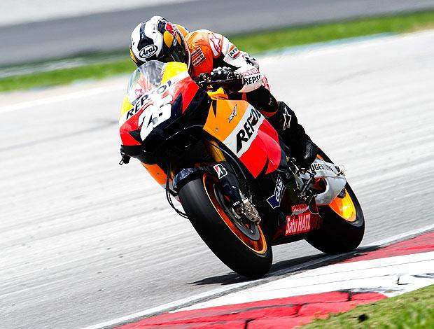 Dani Pedrosa no teste da MotoGP em Sepang