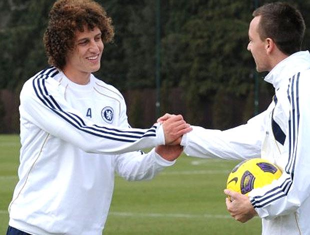 David Luiz no treino do Chelsea