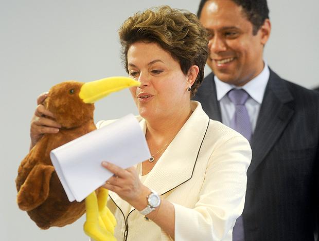 Dilma Rousseff mascote mundial paralímpico de atletismo