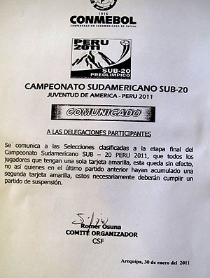 documento Conmebol Neymar