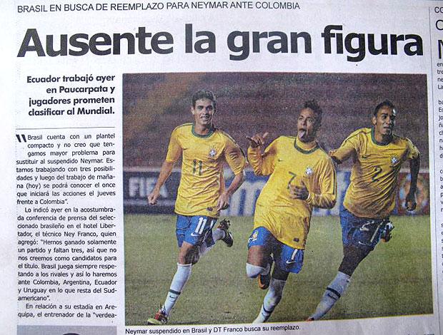 jornal Neymar suspenso