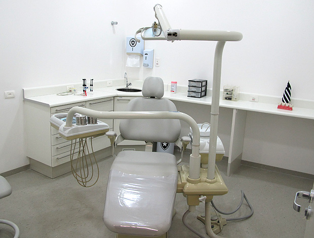 Departamento odontológico do Botafogo (Foto: Gustavo Rotstein/Globoesporte.com)