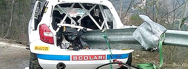 Carro acidente Kubica (Foto: Reprodução)