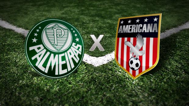 Palmeiras 0 x 0 Americana: acompanhe o lance a lance (Editoria de Arte / GLOBOESPORTE.COM)