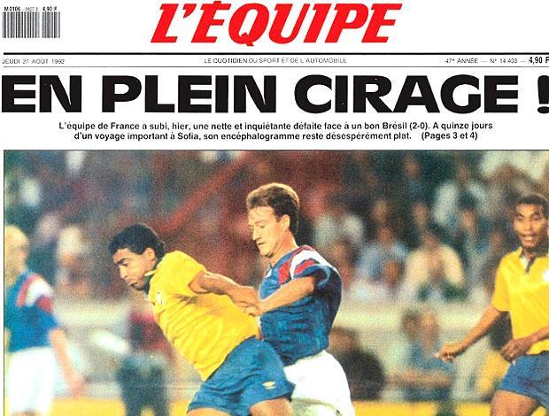 capa Brasil jogo França L´Equipe Romário (Foto: Reprodução)